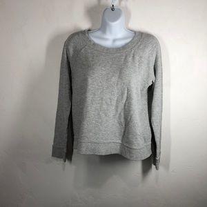 Garnet Hill 100% organic cotton gray sweatshirt xs